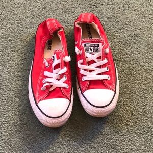 Red All Star Slip on Converse